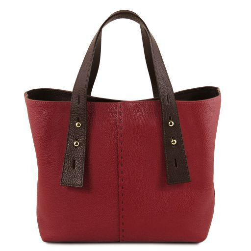 TL Hammered Leather Shopping Tote_9