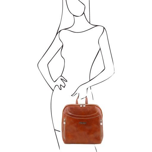 Manila Vegetable Tanned Leather Backpack_8