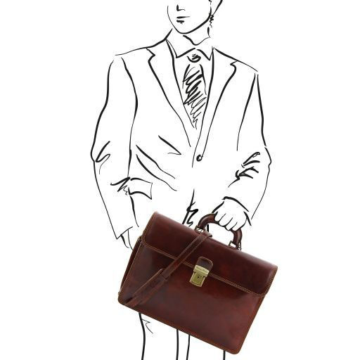 Parma Vegetable Tanned Leather Briefcase _6