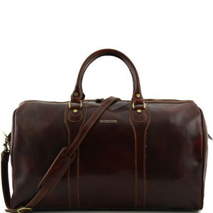 Oslo - Travel leather duffle bag - Weekender bag_1