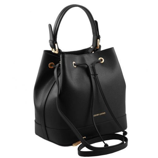 Minerva Saffiano Leather Bucket Bag_14