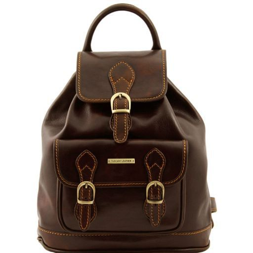 Singapore Vegetable Tanned Leather Backpack_9
