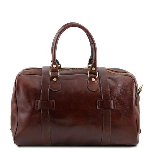TL Voyager - Leather travel bag with front straps - Small size_4