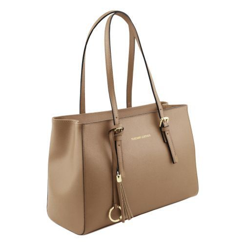 TL Saffiano Leather  Work Tote _7
