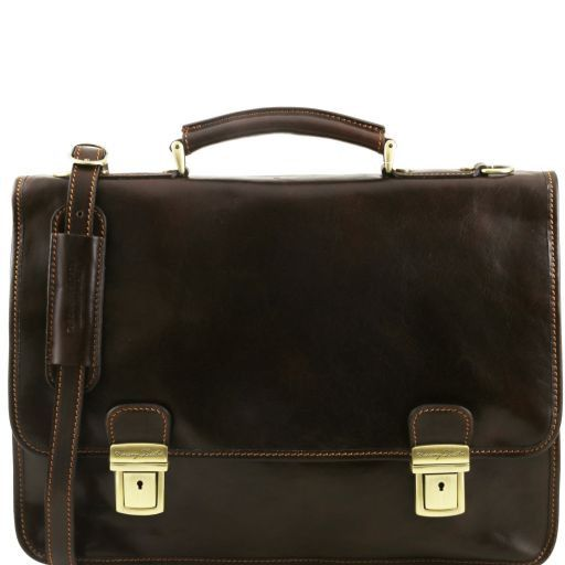 Firenze Vegetable Tanned Leather Briefcase_1