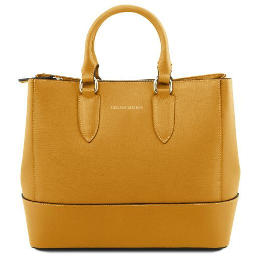 TL Saffiano Leather Satchel _21