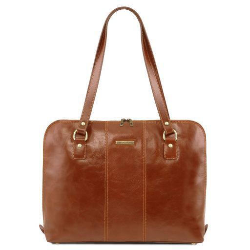 Ravenna Vegetable Tanned Leather Lady Business Bag_10