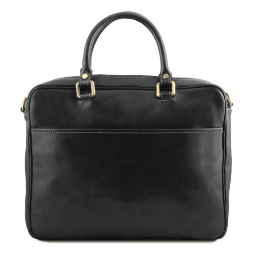 Pisa Vegetable Tanned Leather Laptop Briefcase_11