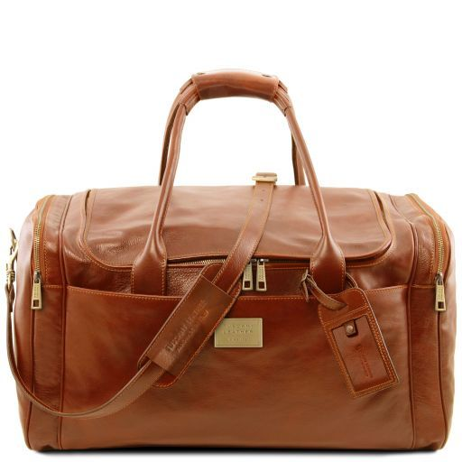 TL Voyager - Travel leather bag with side pockets - Large size_10