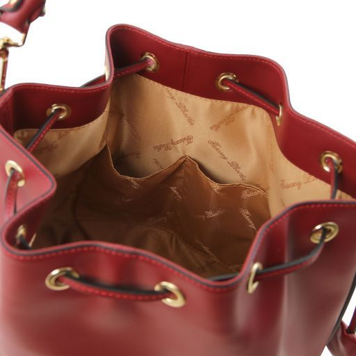 Vittoria Smooth Leather Bucket Bag_4