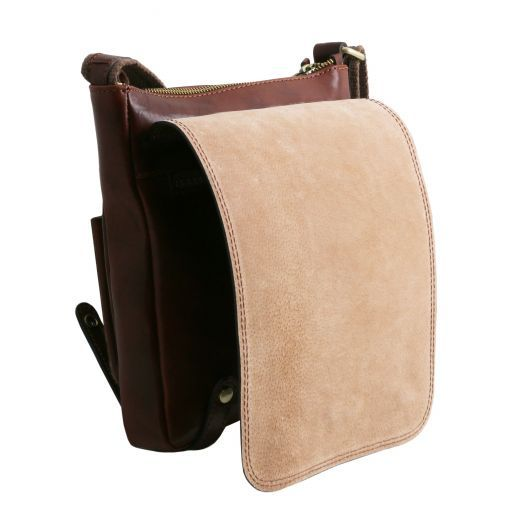 Roby Vegetable Tanned Leather Messenger Bag for Men_6