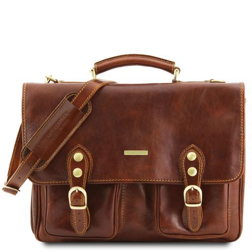 Modena Vegetable Tanned Leather Briefcase_1