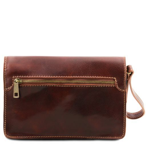 Max Vegetable Tanned Leather Men Clutchs Organizers Wrist Bag_4