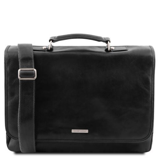 Mantova Vegetable Tanned Leather SMART Briefcase_13