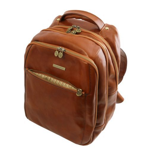 Phuket Vegetable Tanned Leather Laptop Backpack_7