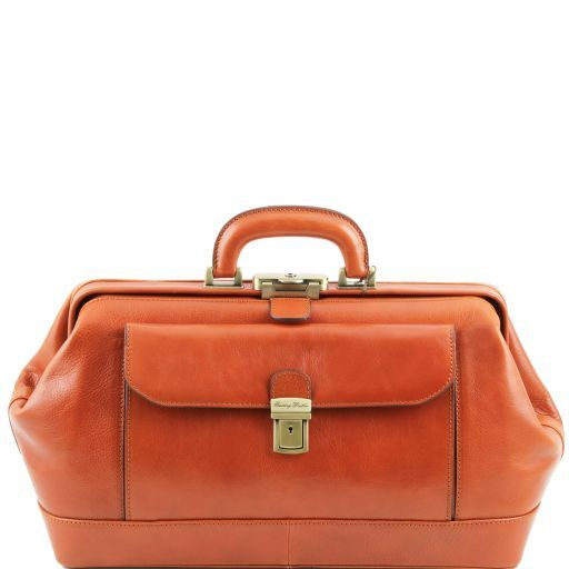Bernini Vegetable Tanned Leather Doctor bag_12