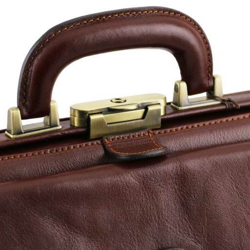 Leonardo Vegetable Tanned Leather Doctor bag_9