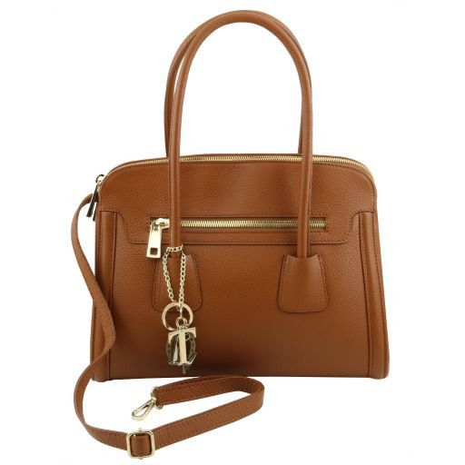 TL KeyLuck Hammered Leather Satchel _3