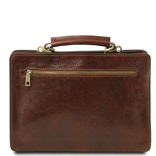 Tania Vegetable Tanned Leather Women Business Bag (L)_4