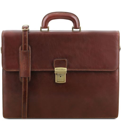 Parma Vegetable Tanned Leather Briefcase _12