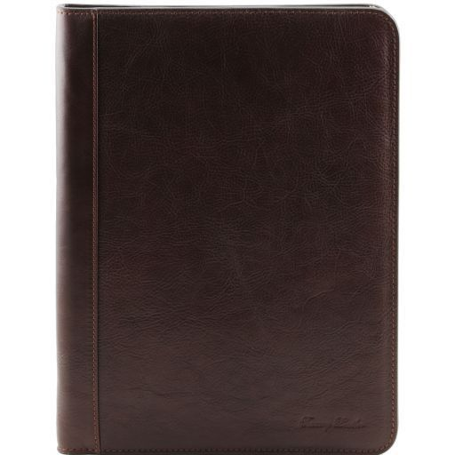 Lucio Vegetable Tanned Leather Leather Document Case with ring binder_1