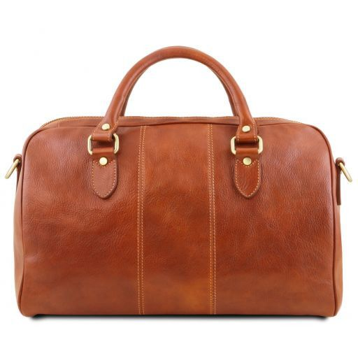 Lisbona - Travel leather duffle bag - Small size_12