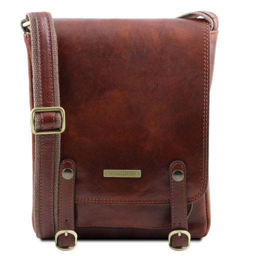 Roby Vegetable Tanned Leather Messenger Bag for Men_10