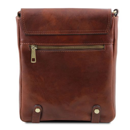 Roby Vegetable Tanned Leather Messenger Bag for Men_5