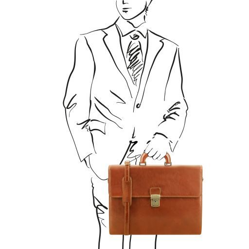 Parma Vegetable Tanned Leather Briefcase _15