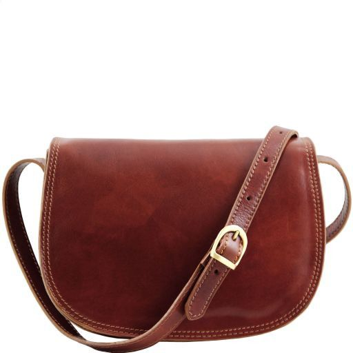 Isabella Vegetable Tanned Leather Shoulder Bag_1