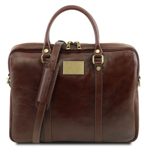 Prato Vegetable Tanned Leather Laptop Case_10