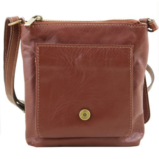 Sasha Unisex Soft Leather Messenger Bag_4