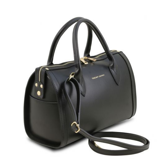 Elena Smooth Leather Boston Bag_8