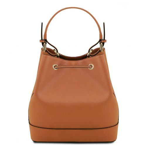 Minerva Saffiano Leather Bucket Bag_9