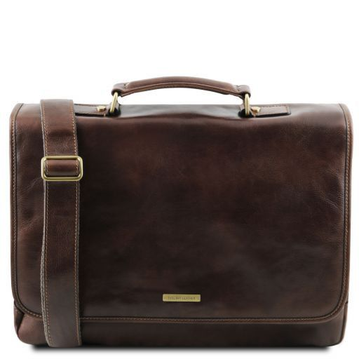Mantova Vegetable Tanned Leather SMART Briefcase_15