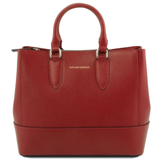 TL Saffiano Leather Satchel _6