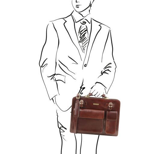 Venezia Vegetable Tanned Leather Briefcase_12