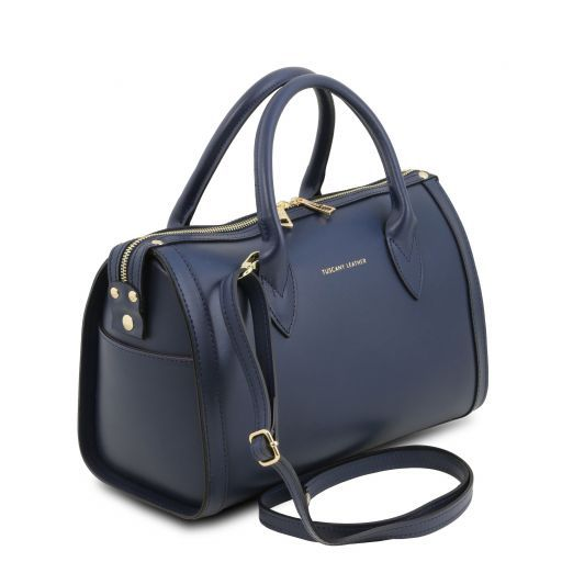 Elena Smooth Leather Boston Bag_14