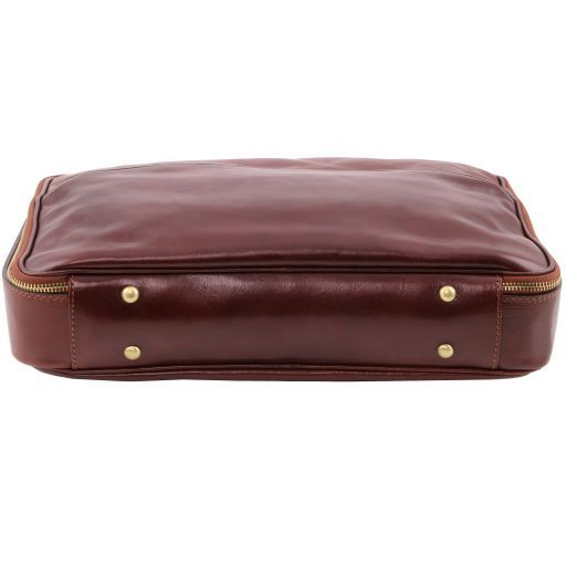 Vicenza Vegetable Tanned Leather Laptop Briefcase_5
