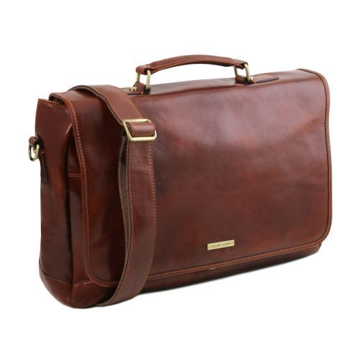 Mantova Vegetable Tanned Leather SMART Briefcase_3