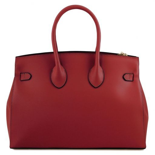 Elettra Smooth Leather Elagent Satchel_3