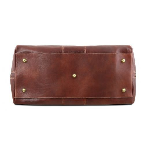 Lisbona - Travel leather duffle bag - Small size_4