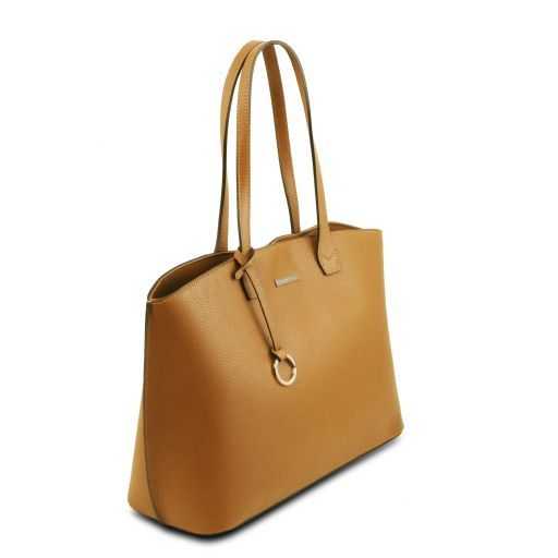 TL Embossed Leather Tote Bag_9