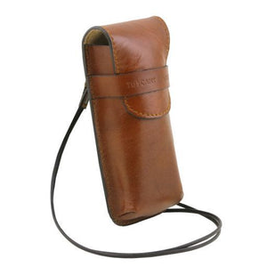 Exclusive Full Grain Leather eyeglasses/Smartphone/Watch holder_2