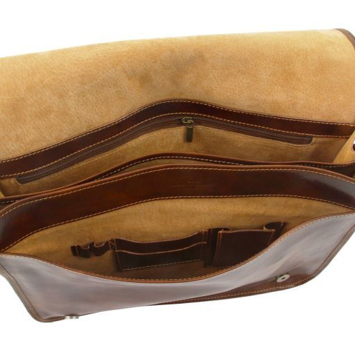 Vegetable Tanned Leather Messenger Bag_7