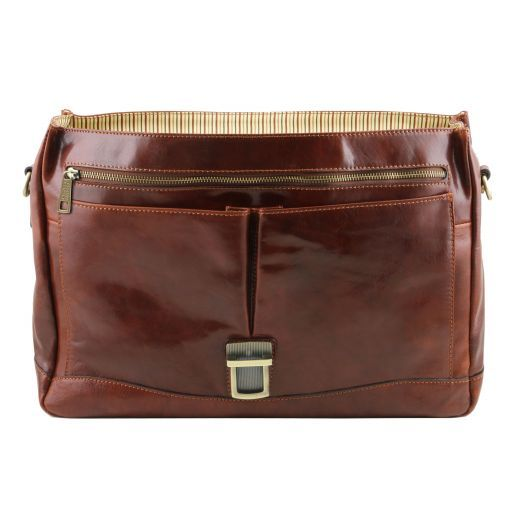 Mantova Vegetable Tanned Leather SMART Briefcase_9