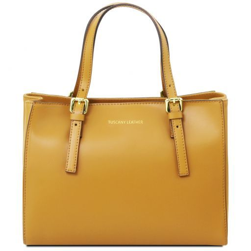 Aura Smooth Leather Satchel_3