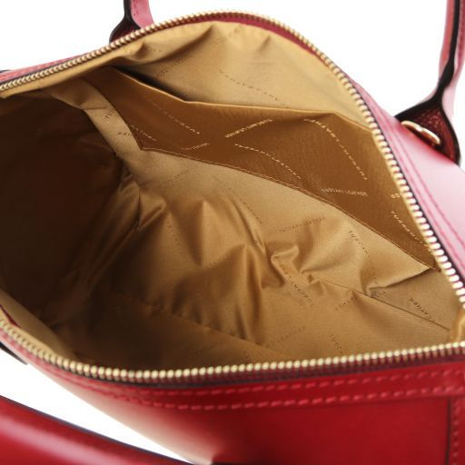 Elena Smooth Leather Boston Bag_4