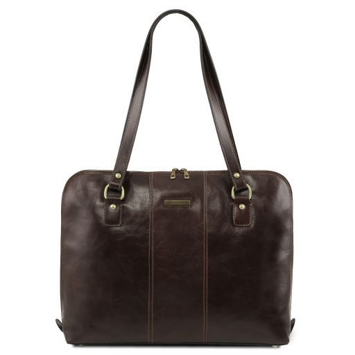 Ravenna Vegetable Tanned Leather Lady Business Bag_8