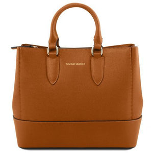 TL Saffiano Leather Satchel _1
